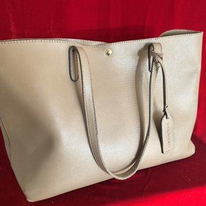 Faux Leather Tote Bag - With Matching Wallet